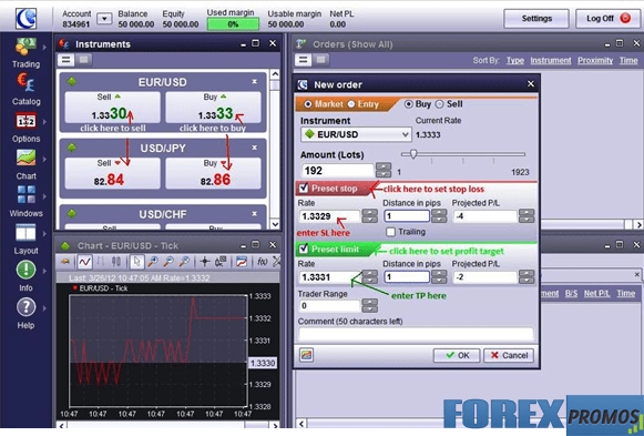 ICTS Forex Trading Platform - Managing Orders