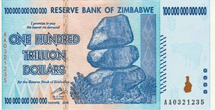 Zimbabwe Currency - Hyperinflation