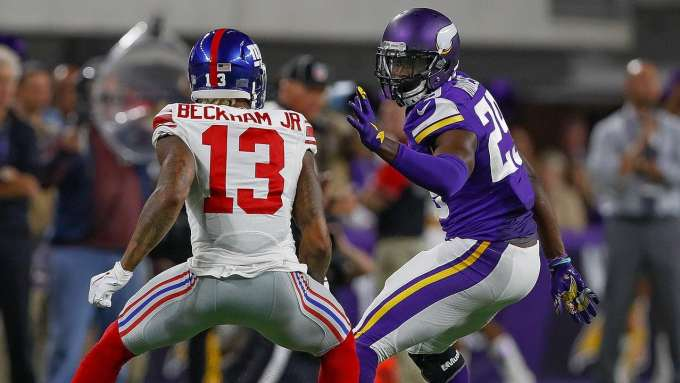 Odell Beckham Jr was stymied by Xavier Rhodes the last time they faced off. Leave 'em on your bench this week.