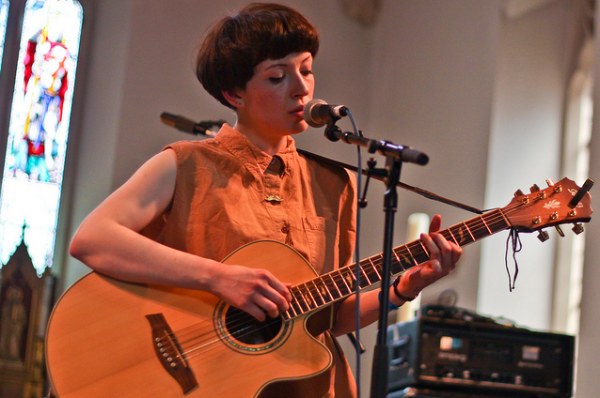 Daughter Elena Tonra at Communion Bushstock Fesitval