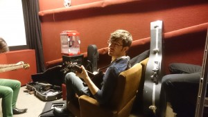 Zach waiting in the green room