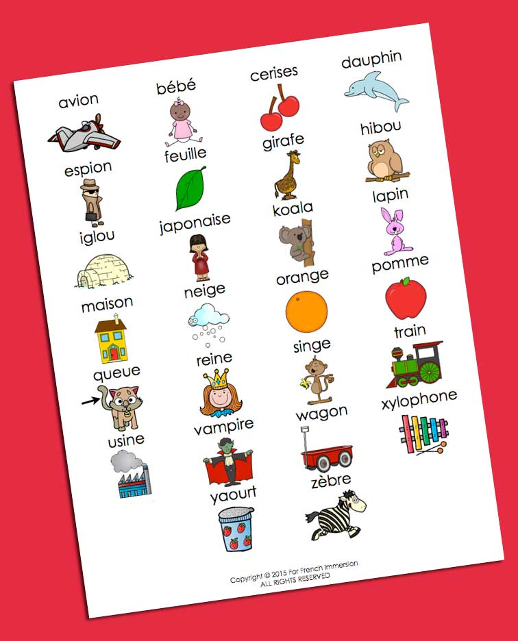 Ffi French Alphabet Chart For French Immersion