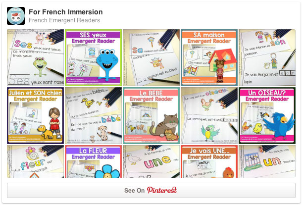 For French Immersion Emergent Readers Pinterest Board