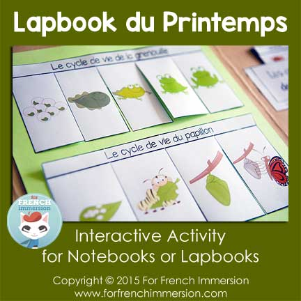 French Spring Lapbook - Foldable Life Cycle Flaps (grenouille / papillon)