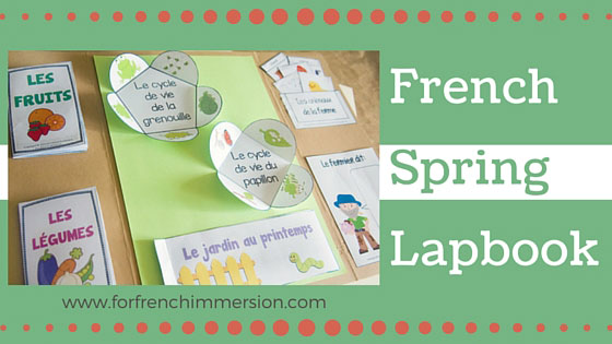 Lapbook du Printemps - Spring Lapbook in French. Interactive activities for lapbooks or notebooks. Students practice vocabulary, writing , and more!