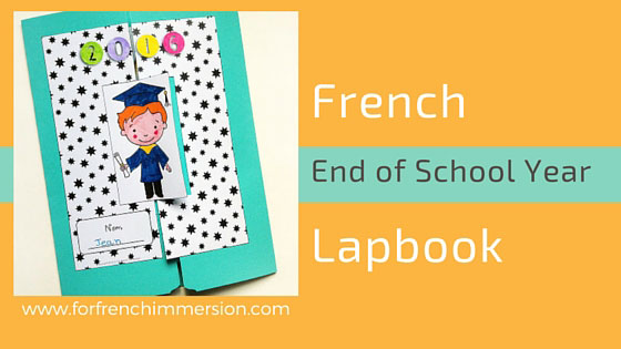 """French End Of School Year Lapbook - a fun activity for """"la fin de l'année scolaire"""". Kids will keep their lapbooks full of wonderful memories for years!"""