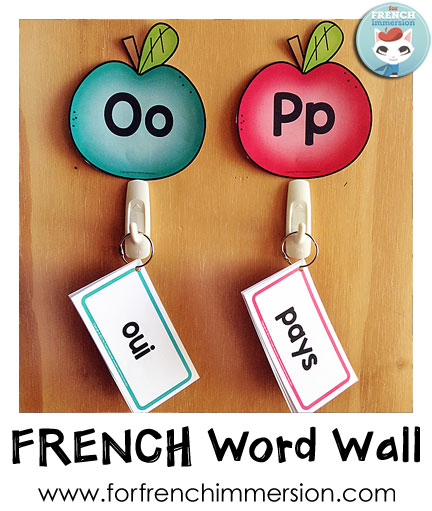 French Word Wall - Mur de Mots - For French Immersion