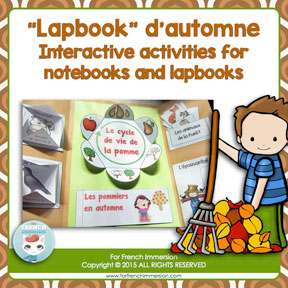 French Fall Lapbook: lapbook d'automne