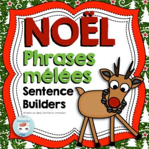 French Christmas Scrambled Sentences: des phrases mêlées en français - Noël