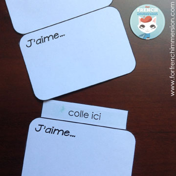"""FREE printable: putting together the foldable accordion. French Valentine's Day craft: the """"J'aime"""" mint tin. Great for """"la fête des mères"""", too!"""