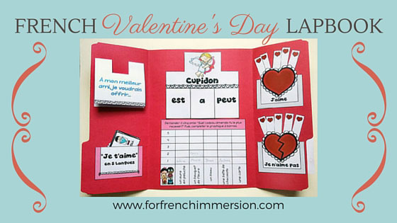Lapbook de la Saint-Valentin – French Valentine's Day Lapbook: interactive foldable activities, and more French practice!