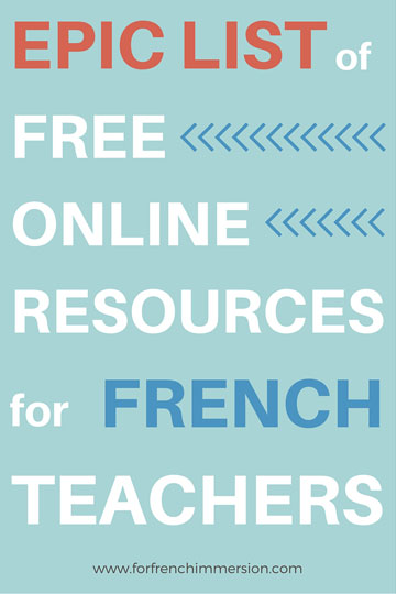 Free Online Resources For French Teachers - For French Immersion