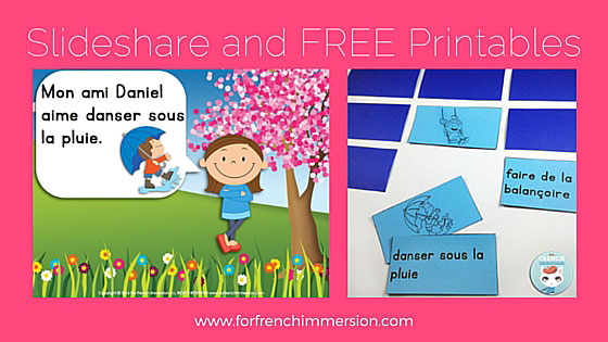 Au Printemps Slideshare and FREE French Printables: with a SPRING theme!