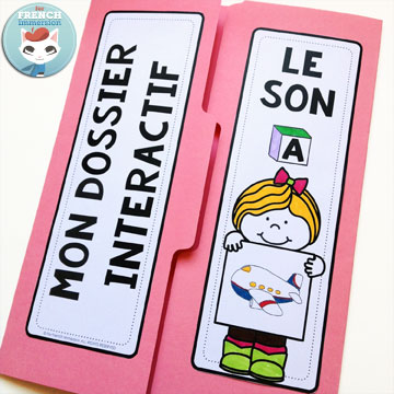 French Phonics Resources: dossier interactif – le son A. French interactive lapbook to practice the sound A, as in Avion, tomAte, drAgon, etc
