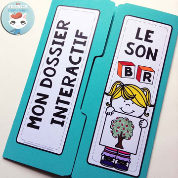 French Phonics Resources: dossier interactif – le son BR. French interactive lapbook to practice the sound BR, as in arBRe, BRas, zèBRe etc