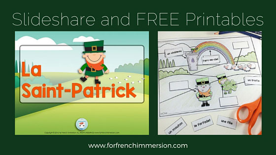 La Saint-Patrick: Slideshare and FREE Saint-Patrick's labelling worksheets in French!