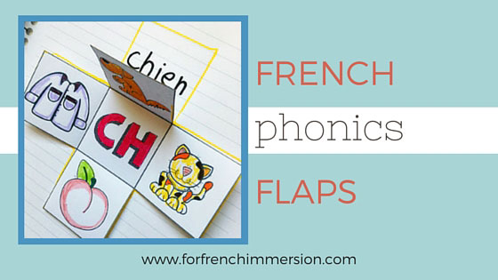 French PHONICS foldable flaps - an interactive way to get kids to learn phonics. Teaching French sounds.
