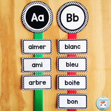 French Classroom Decor Polka Dots: Word Wall. A beautifully-decorated French classroom with little color ink use! Includes more than 200 ready-to-print word cards AND an editable file so you add the words you need to teach!