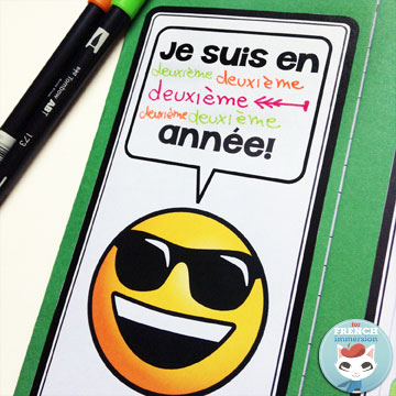 """French Back-to-school Lapbook EMOJI: the perfect activity for """"la rentrée""""! This French lapbook has writing prompts, foldable flaps, and more –with lots of emojis :D"""
