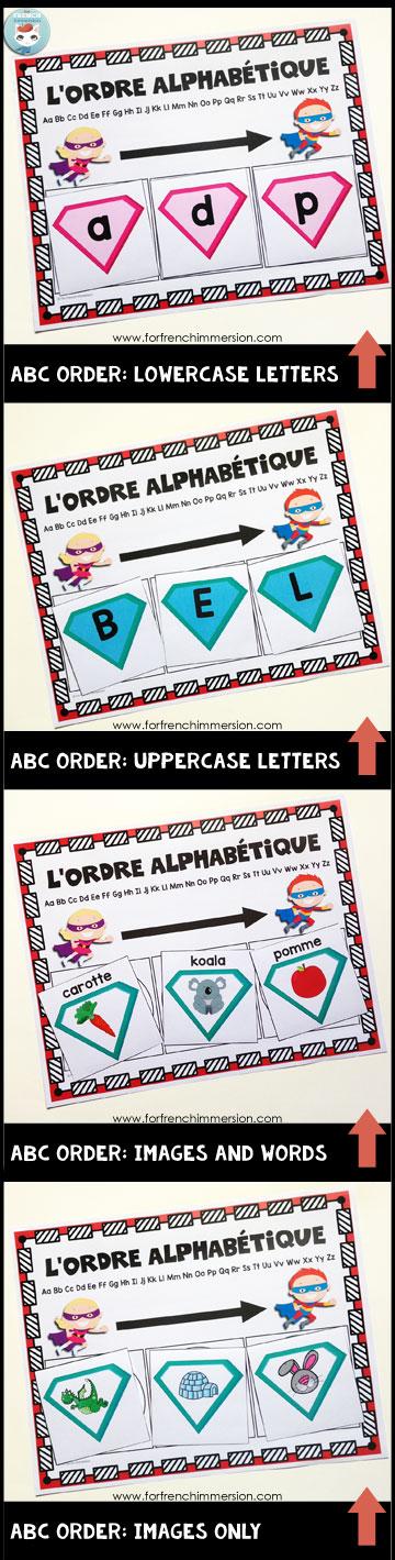 French Alphabet Centers