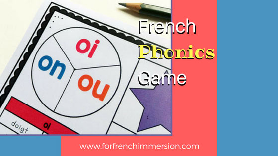 French phonics game: a phonics focused version of the 4-in-a-row game! There are different boards to contrast different groups of sounds, like on/ou/oi, e/é/è, and more! #frenchphonics #frenchimmersion #corefrench