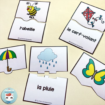 FREE French spring vocabulary puzzles: self-checking and fun way to get your students to practice spring vocabulary in French. Pour le printemps.