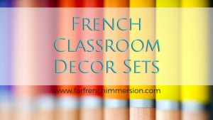 French Classroom Decor Sets