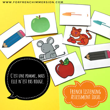French Listening Assessment Ideas - For French Immersion