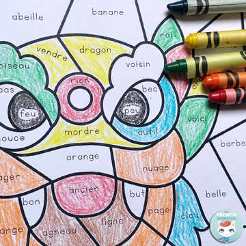 Coloriage Magique Happy New Year.French Chinese New Year Color By Sound For French Immersion