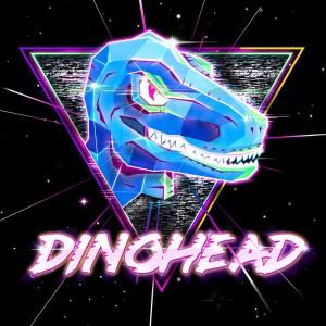 Dinohead cyberpunk logo