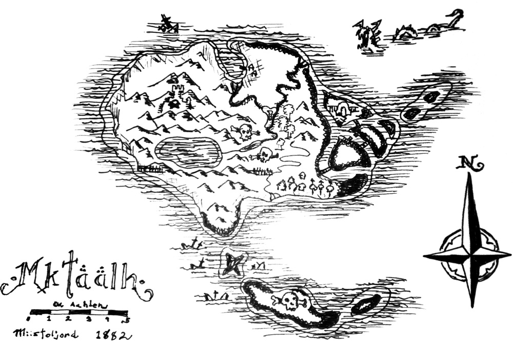 hand drawn fantasy map