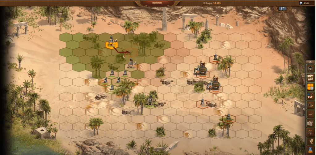 Fighting with Ancient Egyptians Forge of Empires