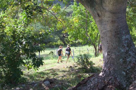 Gwynn & Trevor on the trail