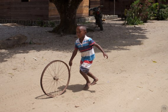 Boy with a wheel