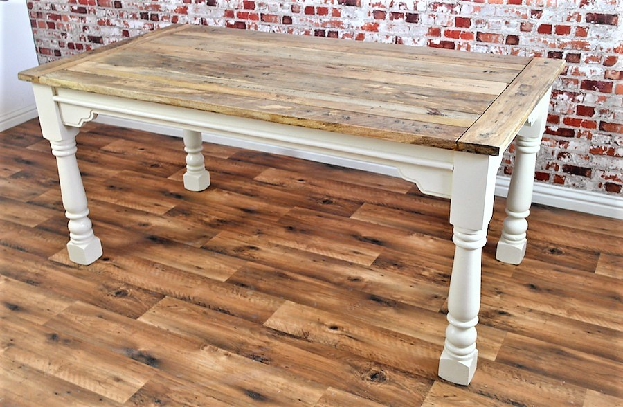 Extendable Rustic Farmhouse Dining Table Painted In Farrow Amp Ball Seats Up To Twelve People