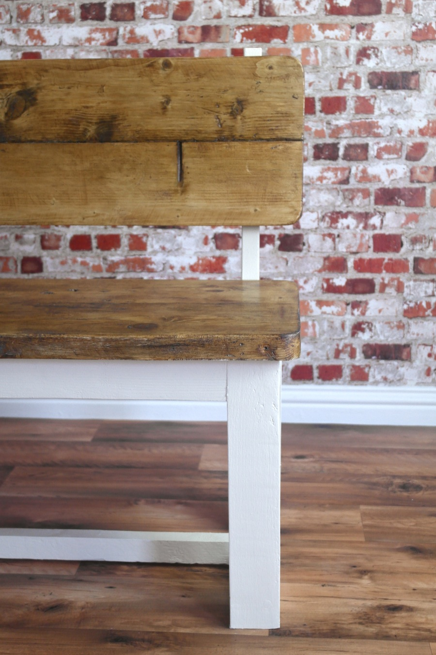 Rustic Farmhouse Pine Pew Bench Made From Reclaimed Wood
