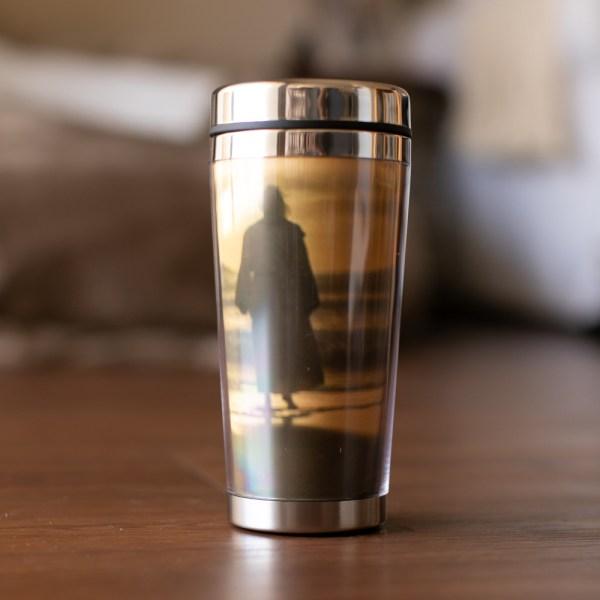 Jesus Footprints travel mug