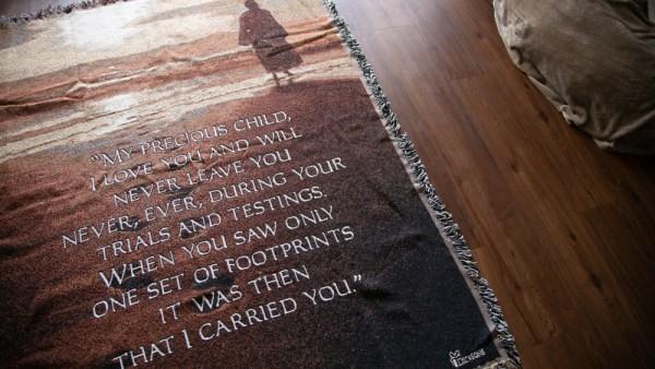 Footsteps Throw Blanket