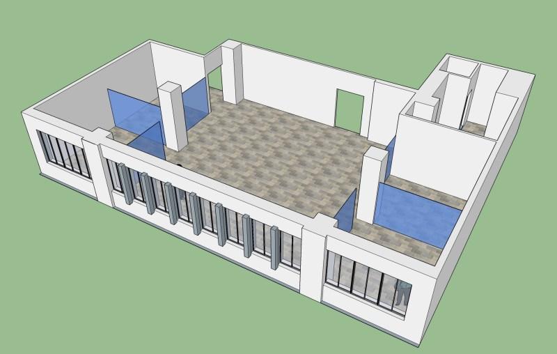 西門共同工作空間 不鳥穀博愛總店(共同工作空間)-3D建模