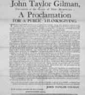 John_Taylor_Gilman_Thanksgiving_Proclamation