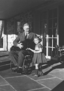 Franklin D. Roosevelt in wheelchair (photo by Margaret Suckley)