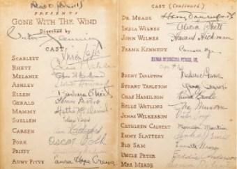 GWTW autographs
