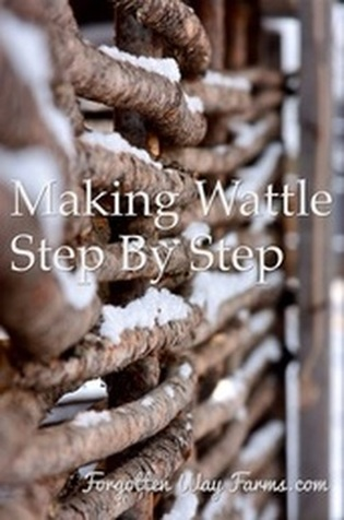 How to Make Wattle Fencing Step by Step. Can't wait to try this in the garden! And maybe also for the ducks.
