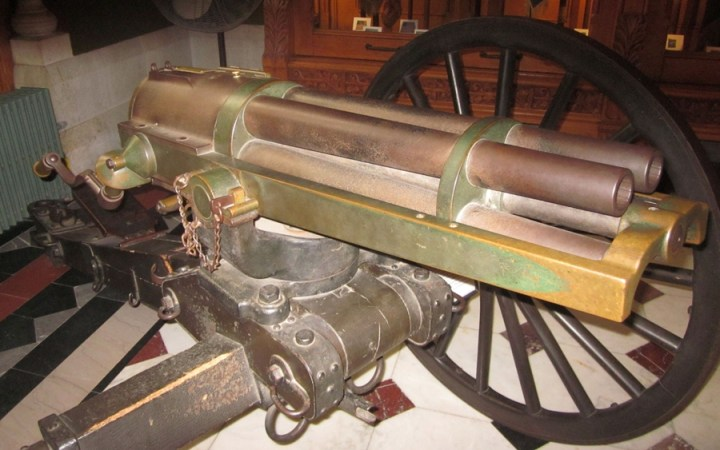 Hotchkiss Revolving Cannon on display in Hartford CT