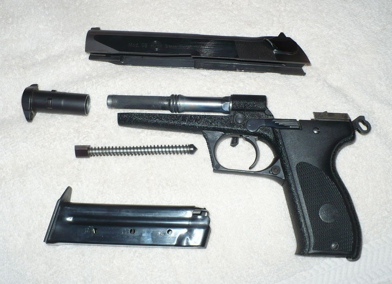 Steyr GB pistol disassembled