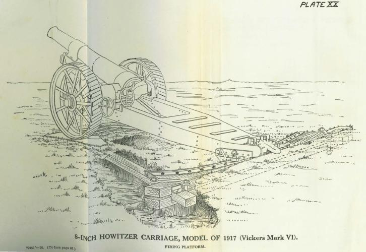 "Vickers Mk VI 8"" howitzer"
