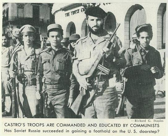 Cuban revolutionaries with San Cristobal carbines