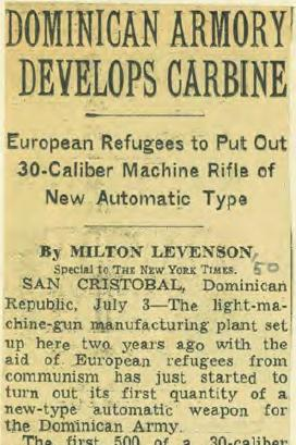 NYT Column on San Cristobal Carbine