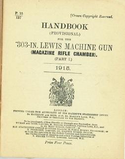 Handbook for the .303 Lewis Machine Gun