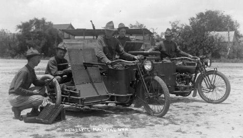 harley 1916 with Benet-Mercier Machine Rifles